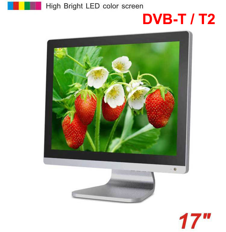 17 inch DVB-T DVB-T2 Digital TFT LCD TV MPEG4 VGA HDMI USB TDT terrestrial TV decodificador DVB-T17