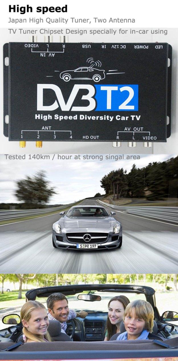 Car DVB-T2 Digital TV Receiver