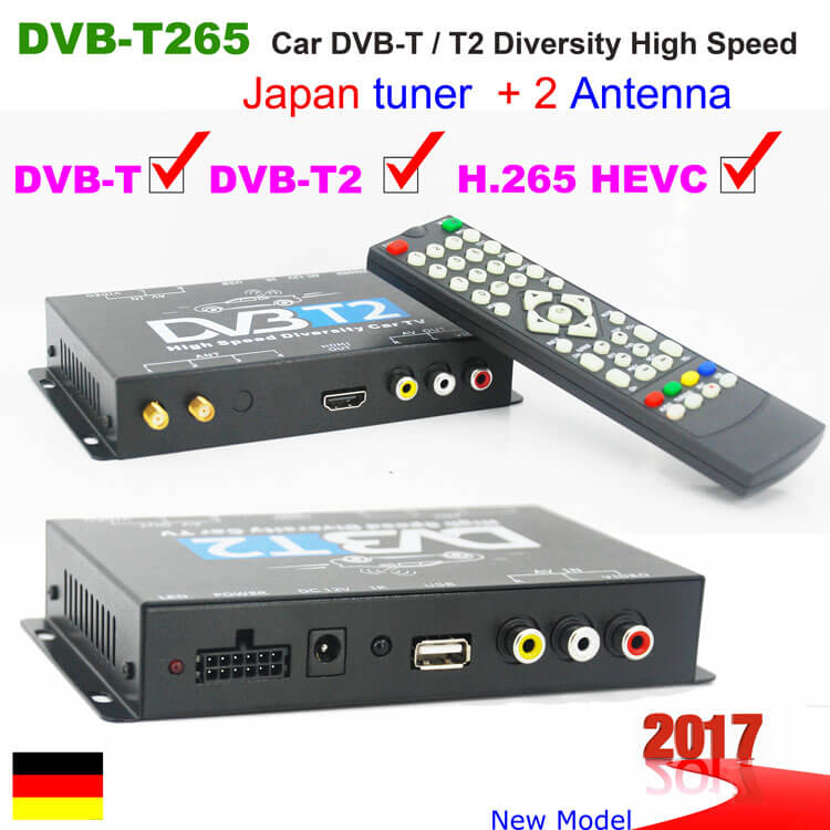 DVB-T265 Germany DVB-T2 H.265 HEVC 2017 New Model